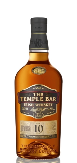 The Temple Bar Irish Whiskey 10 Years Single Malt 40° cl70 Gift Box