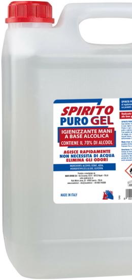 Spirito Puro Gel Igienizzante Mani Lt 5